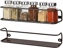 2 Pack Wall Mount Tier Spice Rack Nail Polish Rack