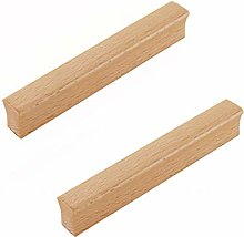 2 Pack Wood Drawer Knobs Door Pulls Handle Wooden