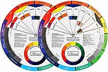 2 Packs Creative Colour Wheel, Paint Mixing