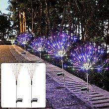 2 Packs Outdoor Solar Firework Garden Lights, 150