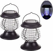 2 Packs Solar Powered Mosquito Killer Lamp, LED