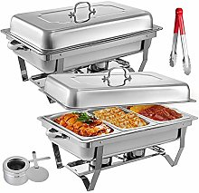 2 Packs Stainless Steel Chafing Dishes 3 1 in 3rd