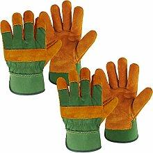 2 Pairs Gardening Gloves Heavy Duty Rigger Garden