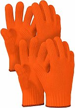 2 PAIRS Orange Heat Resistant Gloves Oven Gloves