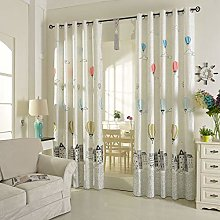 2 Panels Printed Thermal Insulating Curtain