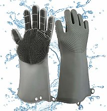 2 Pc Reusable Silicone Cleaning Gloves with