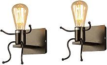 2 pcs Cartoon villain wall light, LED creative