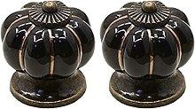 2 pcs Ceramic Ceramic Knobs Cabinet Knobs Wardrobe