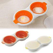 2 pcs Draining Egg Boiler, Eggs Poacher Cup