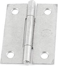 2 Pcs Gray Metal Cabinet Door Butt Hinges 50mm