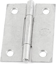 2 Pcs Gray Metal Cabinet Door Butt Hinges 50mm
