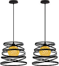 2 pcs modern creative adjustable pendant light,