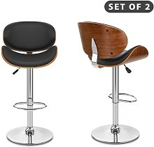 2 PCS Modern Wooden Frame Leather Padded Executive