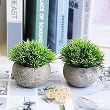 2 PCS Small Fake Plants for Home Office Bathroom