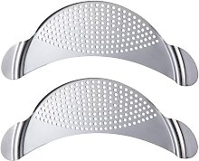 2 Pcs Stainless Steel Colander, Funnel Clip-on