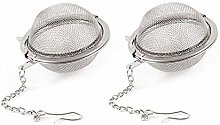 2 Pcs Tea Ball Infuser Stainless Steel Mesh Tea