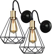 2 pcs wall sconce diamond cage, lofts industrial