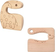 2 Pcs Wooden Kids Knife for Cooking,