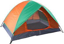 2-Person Double Door Camping Dome Tent Orange &