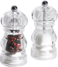 2 Piece Acrylic Salt and Pepper Mill Set Symple