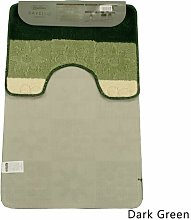 2-Piece Bath Mat Set Alami Colour: Dark Green