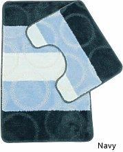 2-Piece Bath Mat Set Alami Colour: Navy