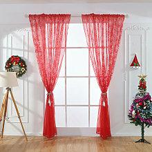 2 Piece Christmas Snowflake Curtain | Tulle Window