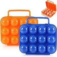 2 Piece Egg Storage Box Plastic Egg Box with Lid