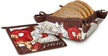 2 Piece Grumpy Bread Basket and Table Mat  Set