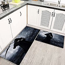 2 Piece Kitchen Rugs and Mats Kitchen Rug Set,The