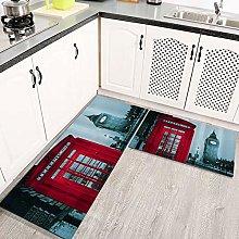 2 Piece Kitchen Rugs and Mats Kitchen Rug Set,UK