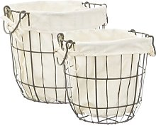 2 Piece Laundry Basket Set Sass and Belle