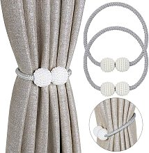 2 Piece Magnetic Curtain Tieback, Elegant Curtain