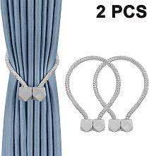 2 Piece Magnetic Curtain Tiebacks, Convenient