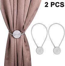 2 Piece Magnetic Curtain Tiebacks, Decorative