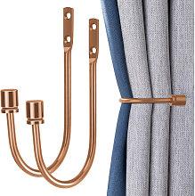 2 Piece Metal Curtain Holdbacks, Decorative