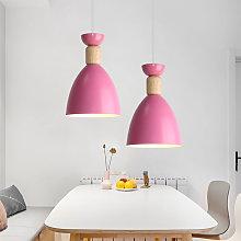 2 Piece-Modern Pendant Light, Minimalist Pink