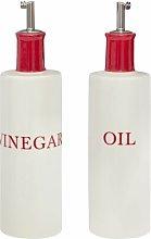 2 Piece Oil & Vinegar Stoneware Cruet Set Symple