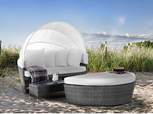 2 Piece Rattan Garden Daybed Set with Cushions Sol 72 Outdoor