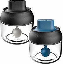 2 Piece Spoon And Spice Jar With Lid Honey Glass