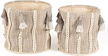 2 Piece Storage Fabric Basket Set August Grove