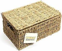 2 Piece Storage Seagrass Basket Set Woodluv