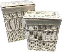 2 Piece Wicker Laundry Basket Set House of Hampton