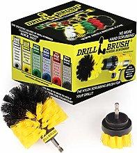 2 Piece Yellow Medium Stiffness Rotary Cleaning