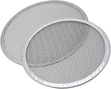 2 Pieces Aluminum Round Pizza Mesh Pizza Tray,