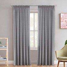2 Pieces Blackout Pencil Pleat Curtain Panels