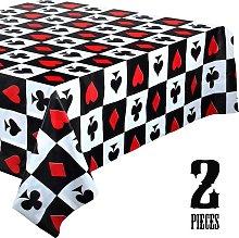 2 Pieces Casino Party Table Cover Poker Party