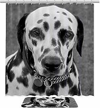 2 Pieces Decorative Dalmation Dog Print Bathroom