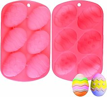 2 Pieces Easter Egg Moulds Silicone Egg Shape Mold