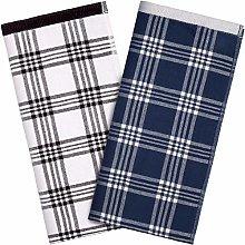 2 Pieces Kitchen Dish Towel Plaid Dish Towels